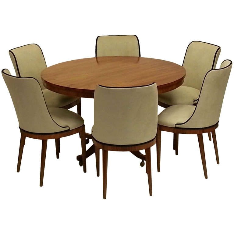 Art Deco Dining Table And Six Chairs Furniture Dining