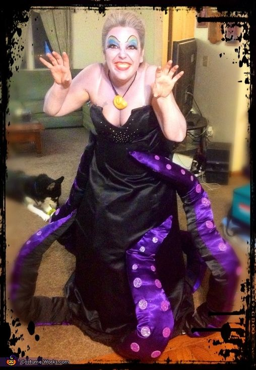Ursula the sea witch halloween costume contest at costume works stephanie ursula costume is homemade thinking that the tentacles would be too heavy to wear all night we decided to make un underskirt solutioingenieria Image collections