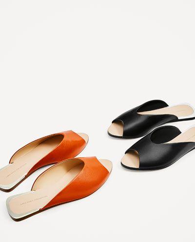 Ver Zapatos V Mujer Zara España Escote Rebajas Todo Piel Pala qf6xCPwn