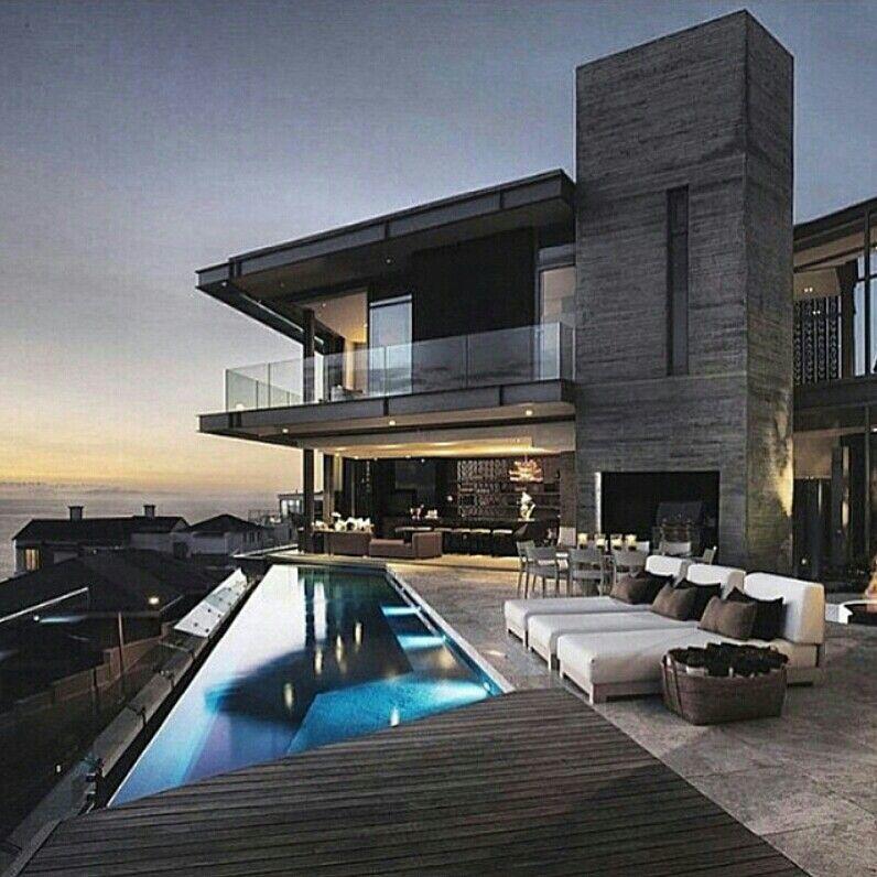 Pin de janine andrade en proyectos a realizar casas for Casa de lujo minimalista y espectacular con piscina por a cero