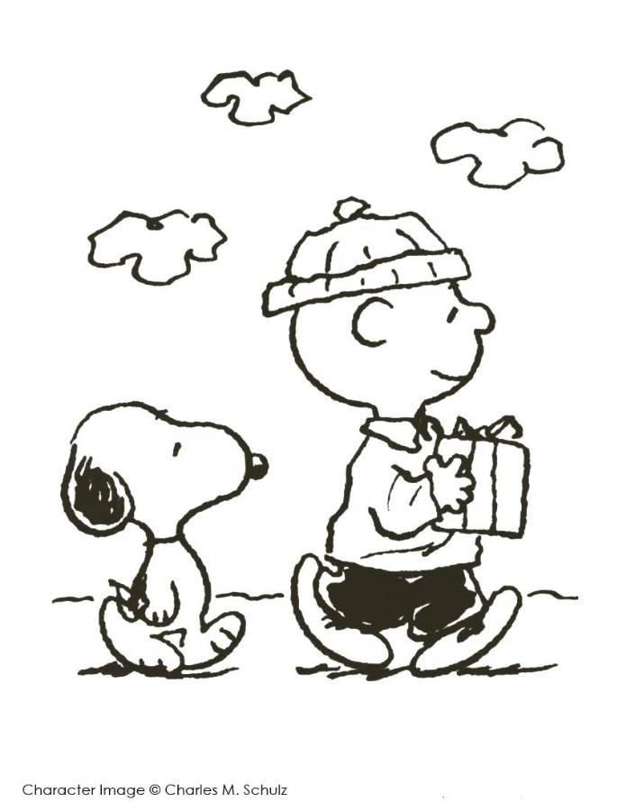 Read Morecharlie Brown And Snoopy Christmas Coloring Page