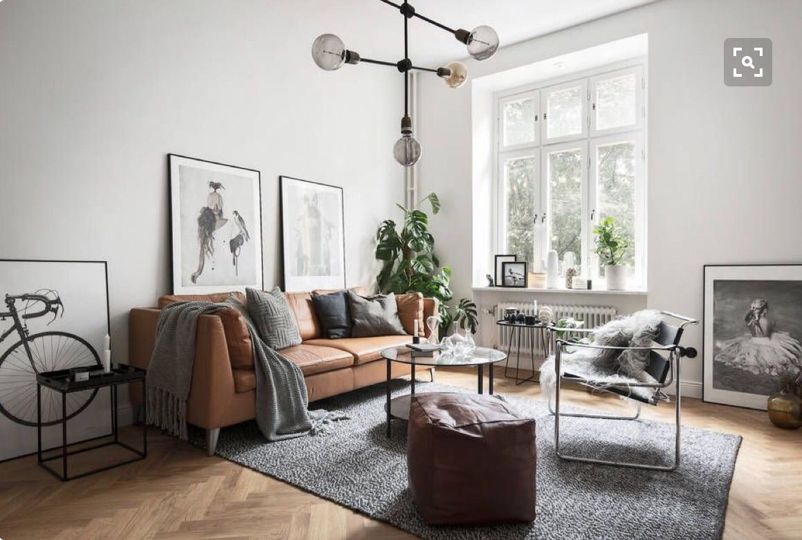Get the look 10 ways to style a tan leather sofa - Leather furniture for small living room ...