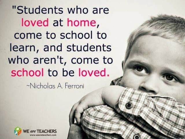 Image result for students who are loved at home come to school to learn