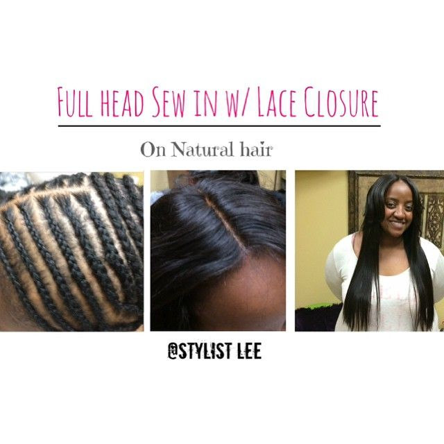 Full Head Weave Install With Lace Closure Fully Sewn Hair Be On