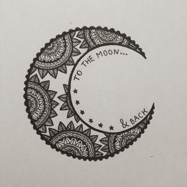 to the moon & back.. would make for a good henna piece | tatoo ...