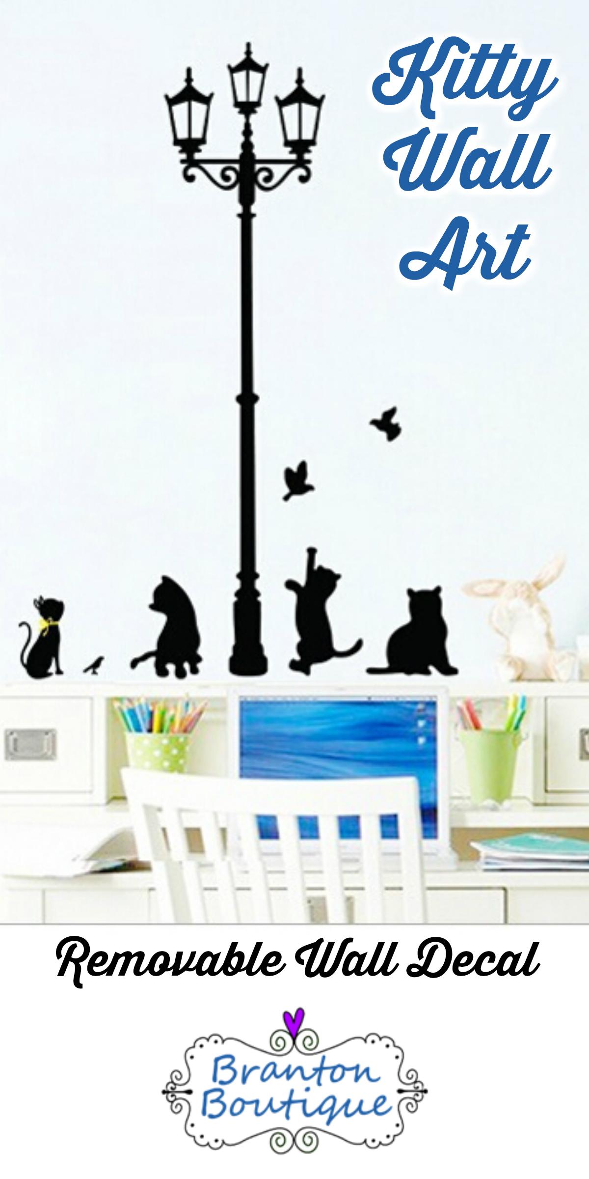 Decorative Wall Art Removable Wall Art Cats Cat Decorations
