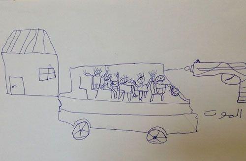 O perturbador desenho de uma criança síria