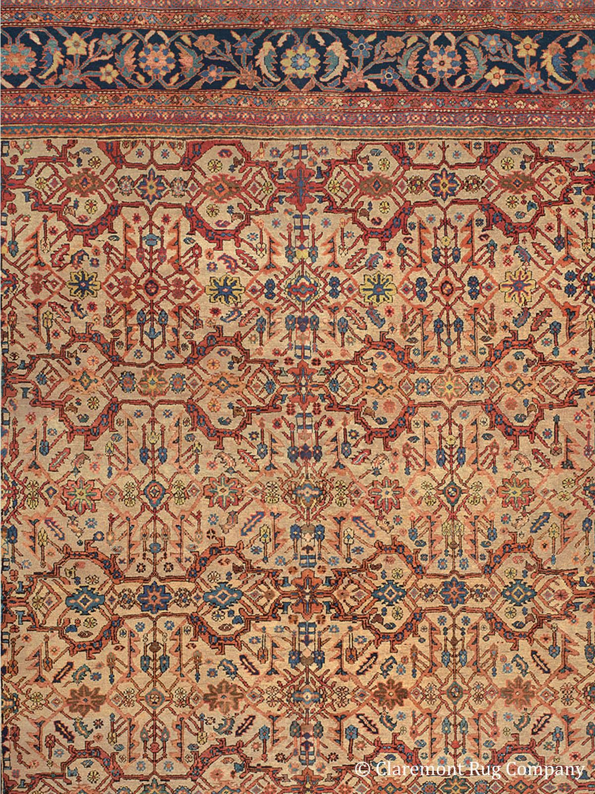 Sultanabad West Central Persian Antique Rug 13 10 X 20 3 Circa 1900 Claremont Rug Company Oriental Persian Rugs Rugs Antique Oriental Rugs