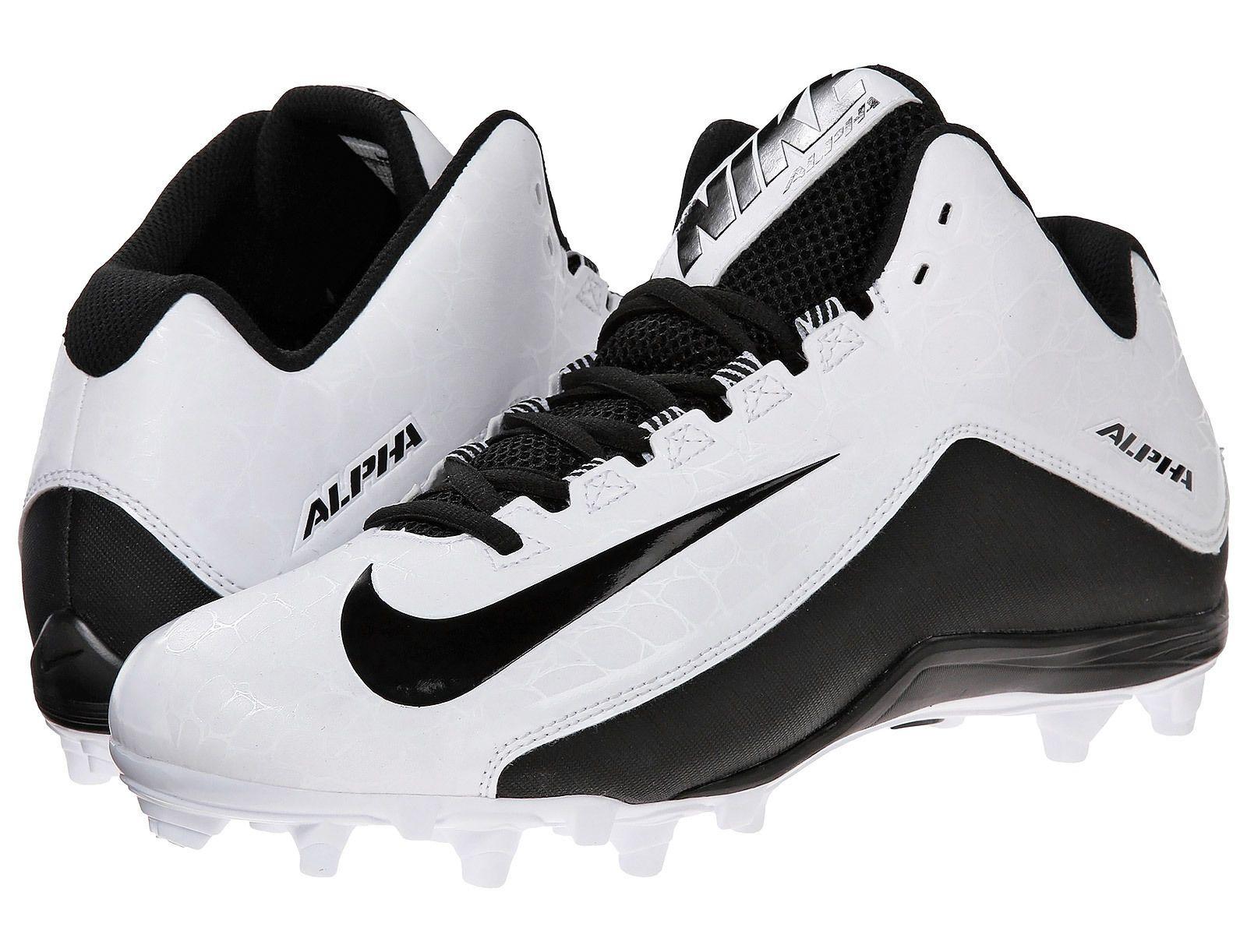 New Nike Alpha Strike 2 II 3/4 TD Mens Mid Football Cleats : White