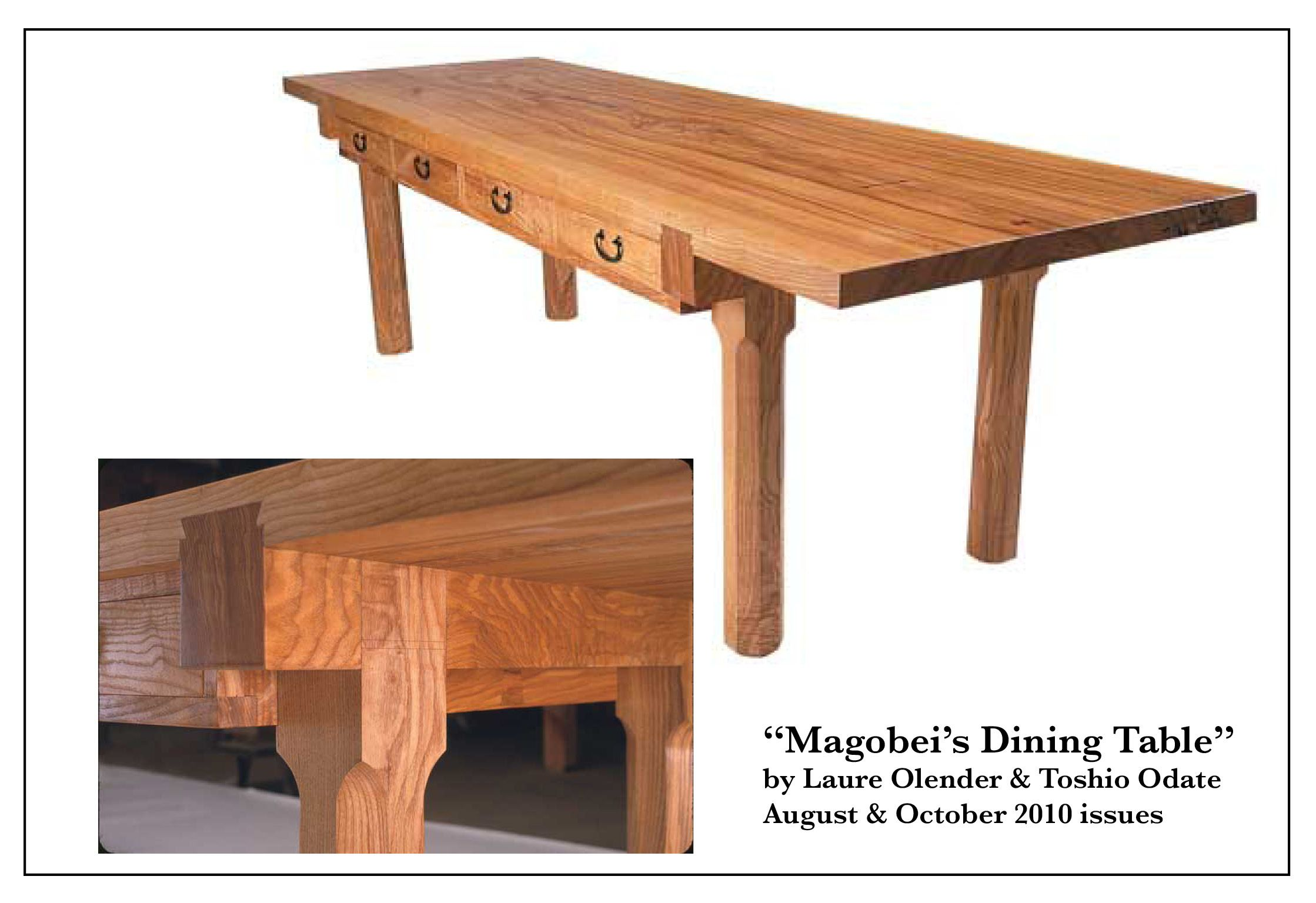 Magobei's Dining Table Part 1 Woodworking wood, Rustic