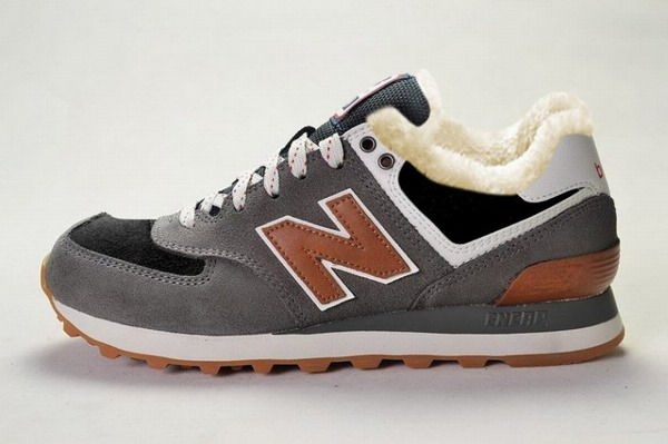 Joes New Balance ML574CAG Sneakers Canteen Grey Black-Red Wool Fur Winter  Suede Mens Shoes