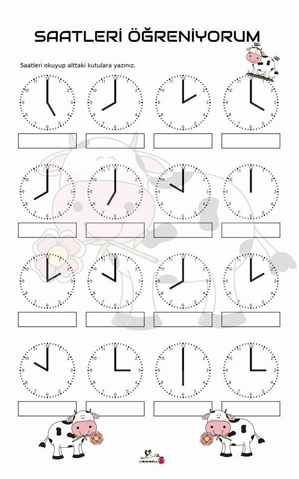 saatleri öğreniyorum - saat kaç? | saat | Pinterest | Maths ...