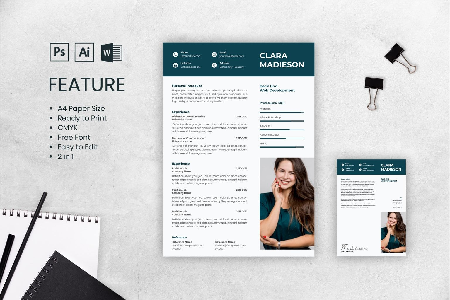 Free Best Fashion Resume Cv Template In Photoshop Psd Desain Cv Cv Kreatif Desain Resume