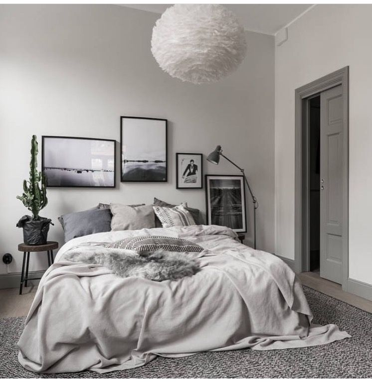 Light Grey Bedroom Ideas: •pinterest // Fashionista1152•