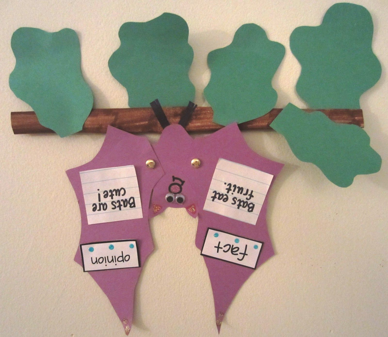 Cute Bat Craft With Fact And Opinion