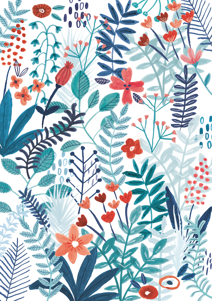 1a016327c860 Floral pattern - Lisa Barlow (Milk   Honey)