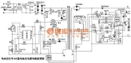 electric bicycle 36v battery charger circuit diagram sch ma in rh pinterest com  circuit diagram for electric bicycle