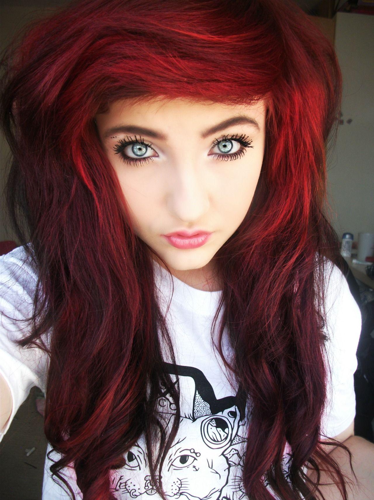 Scene Indie red hair