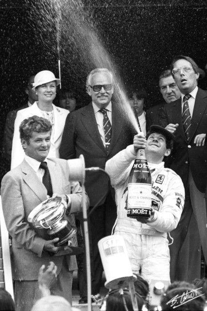 "princessgracekelly1956:  "" 1979 Monaco Grand Prix: Princess Grace and Prince Rainier look on as winner Jody Scheckter celebrates. (photo by Bernard Cahier)  """