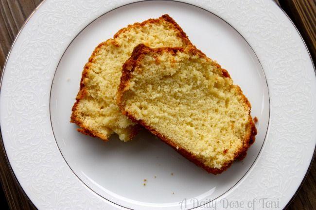 Paula Deen Sour Cream Pound Cake Recipe A Daily Dose Of Toni Sour Cream Pound Cake Pound Cake Recipes Cake Recipes
