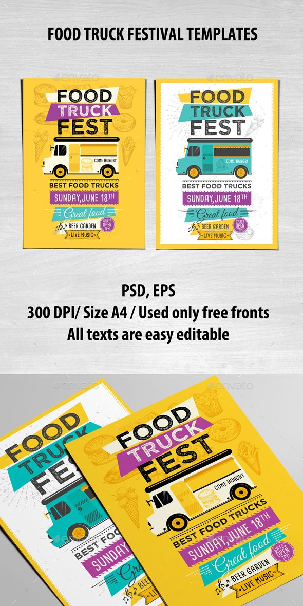 Food Truck Template Food truck, Food menu and Food truck design