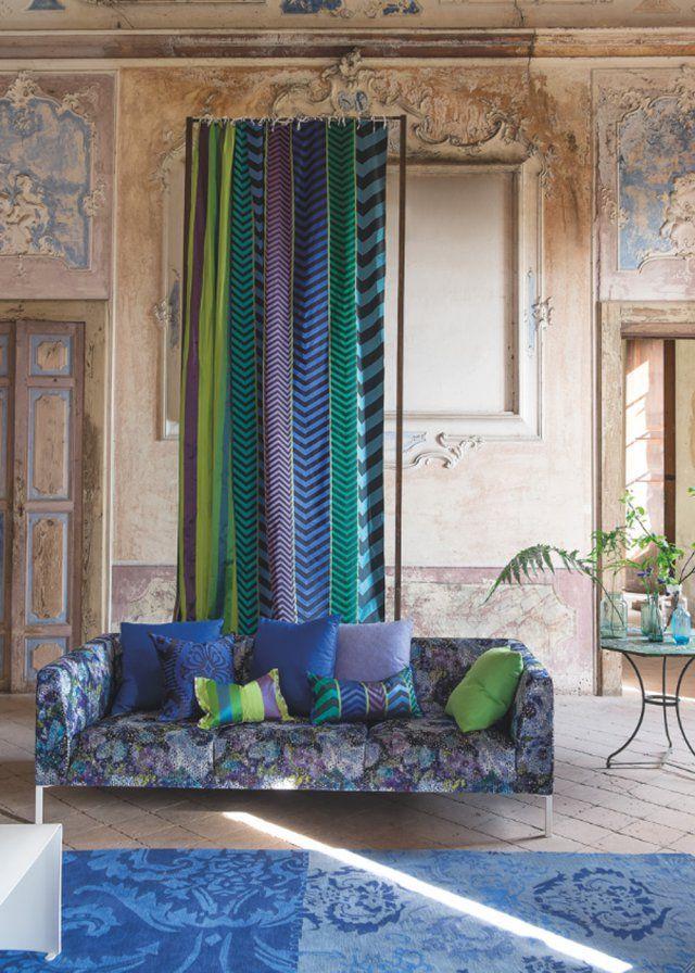 rideau indupala designers guild deco pinterest rideaux design habille et nouveaut. Black Bedroom Furniture Sets. Home Design Ideas