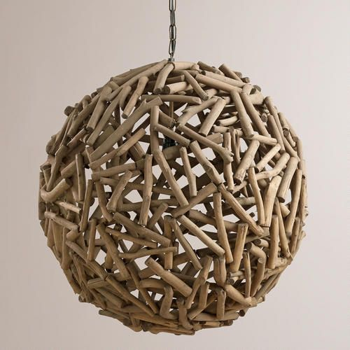 Cost Plus World Market Fall 2016 Collection: Driftwood Orb Chandelier From Cost Plus World Market's New