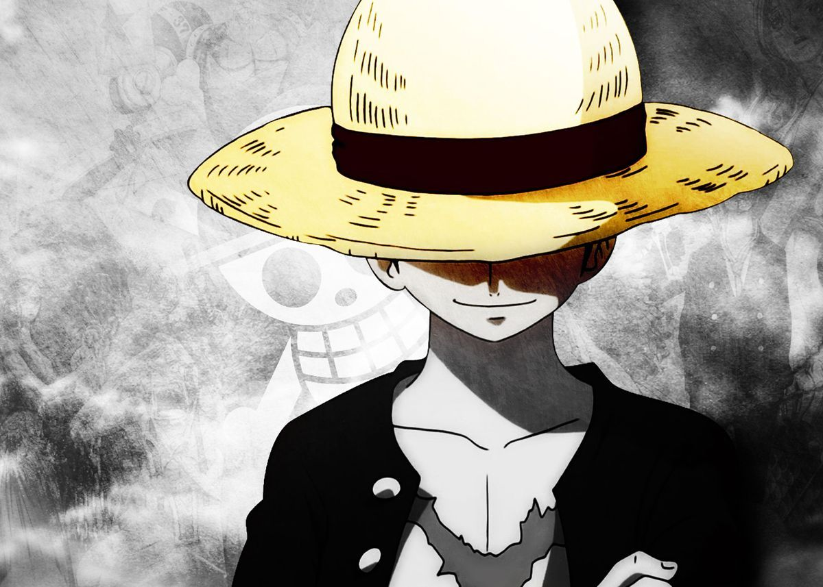 One Piece Poster By Floyd Pauly Displate One Piece Wallpaper Iphone Anime Wallpaper 1920x1080 Monkey D Luffy
