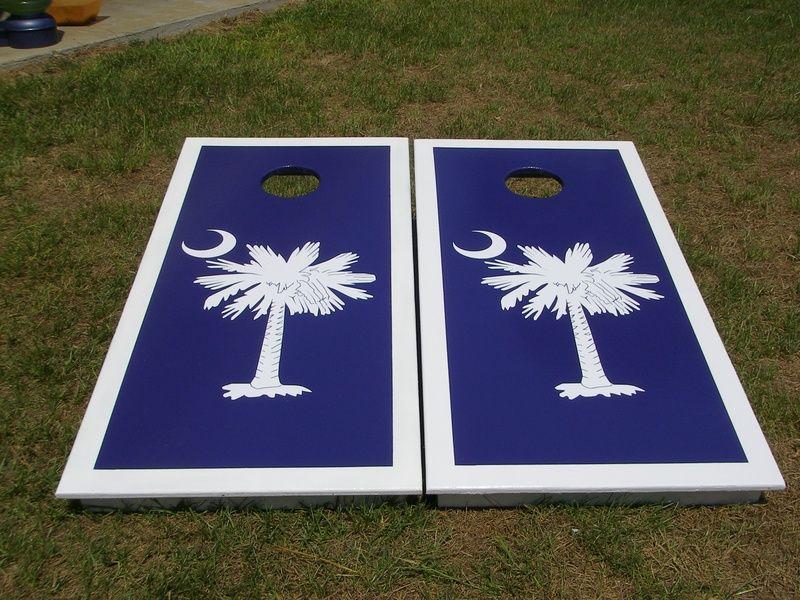 SC Palmetto Tree   Craigu0027s Custom Cornhole Boards
