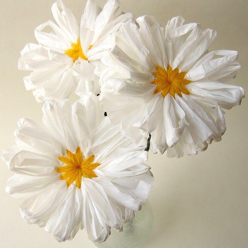 Цветы из целлофановых пакетов фото невозможностью