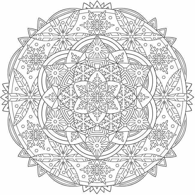 Mandala coloring page Mandalas for coloring Pinterest Mandala