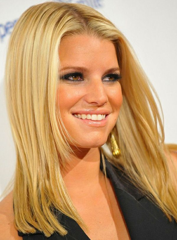 10 Pictures Of Jessica Simpson Medium Long Hairstyles Haircuts 5