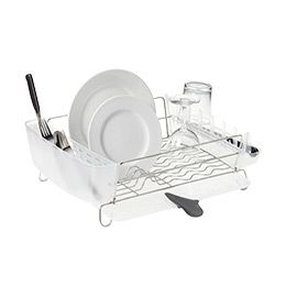 The Container Store Stainless Steel Deluxe Folding Dish Rack By