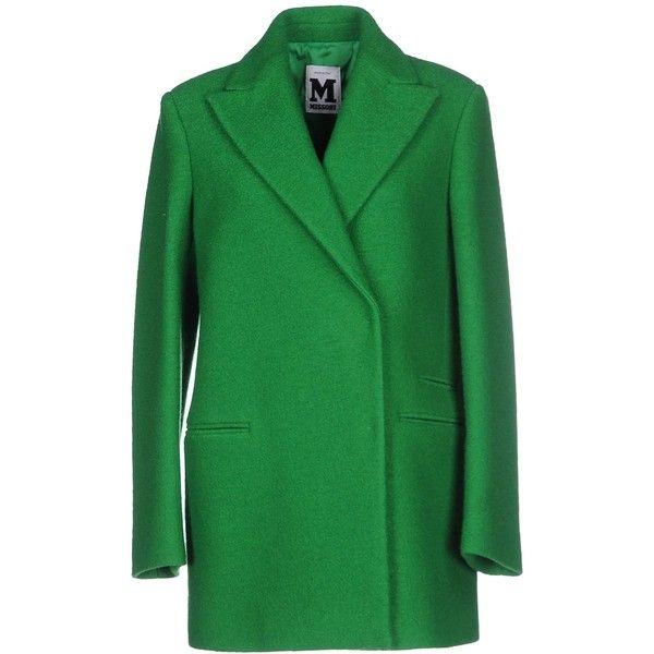 M Missoni Coat ($470) ❤ liked on Polyvore featuring outerwear, coats, green, green coat, lapel coat, boucle coat, double breasted coat e m missoni coat