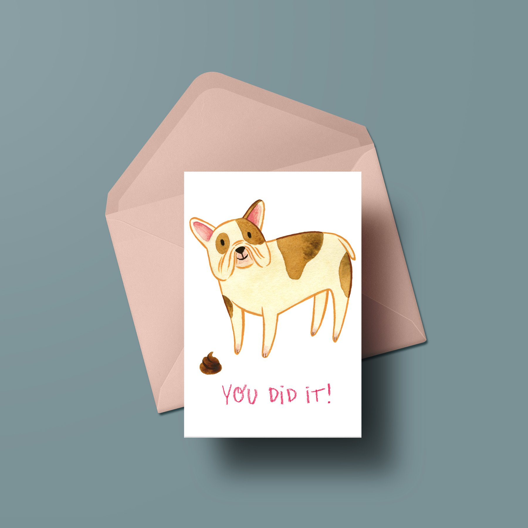 You Did It Card Pink Envelopes Cards Card Stock