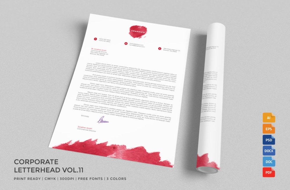 20 Professional Company Letter Head Templates 20