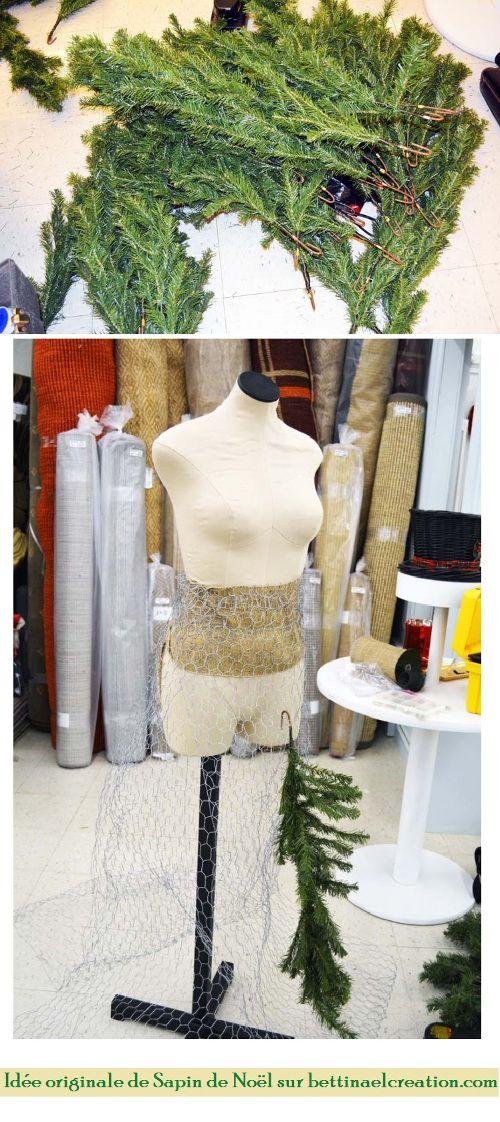 id e originale comment faire son arbre de no l avec son buste de couture happy diy. Black Bedroom Furniture Sets. Home Design Ideas