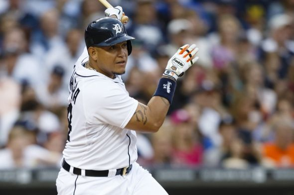 Tigers' Miguel Cabrera, Joba Chamberlain left today's game