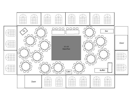 Google image result for for Wedding reception floor plan