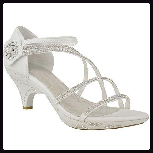 Damen Sandalette Mit Strass Hochzeitsschuhe Mit Kleinem Absatz