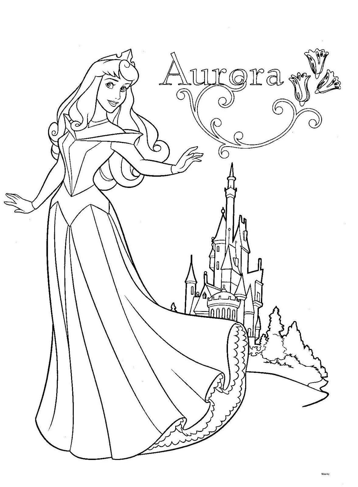 coloriage la belle au bois dormant  Cinderella coloring pages