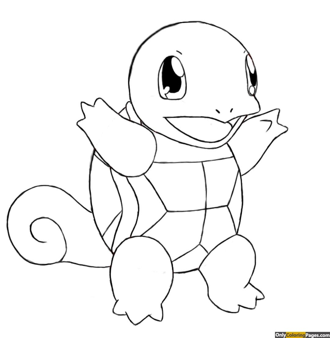 pokemon coloring pages squirtle (With images) Pokemon