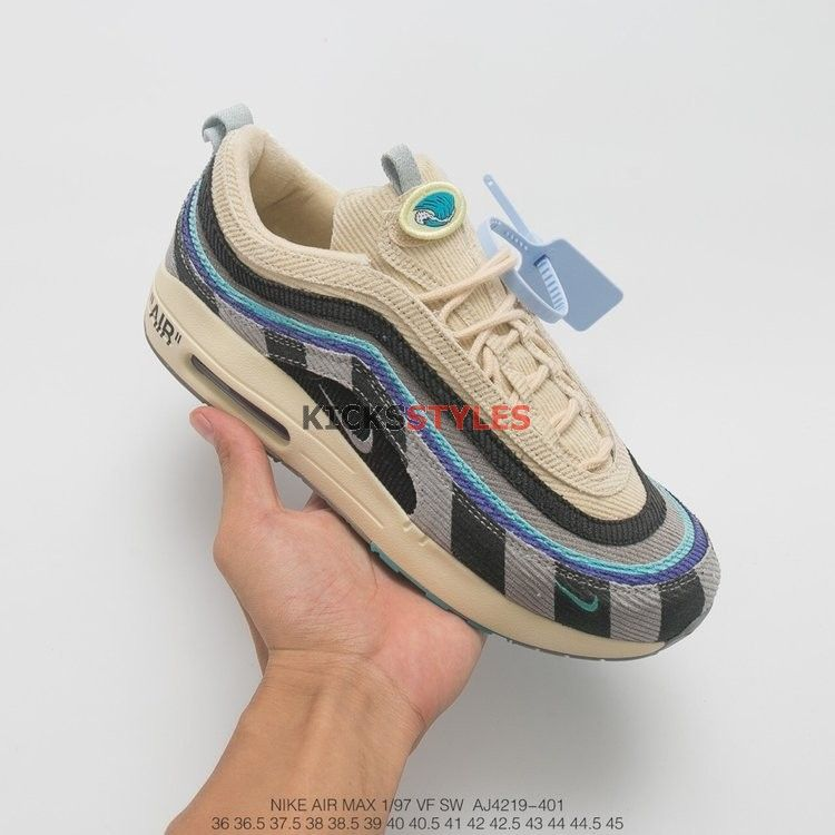 new arrival 4b554 7014f Custom Off-White x Sean Wotherspoon Air Max 1 97 VF SW Hybrid