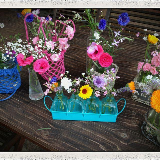 Vorbereitung zur Gartenparty