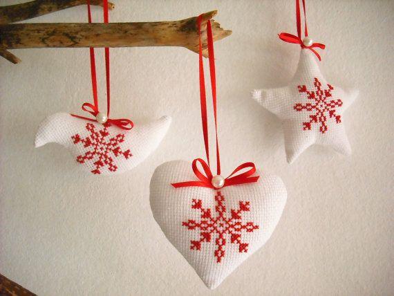 Scandinavian Christmas Ornament Christmas by KeitAtelier on Etsy