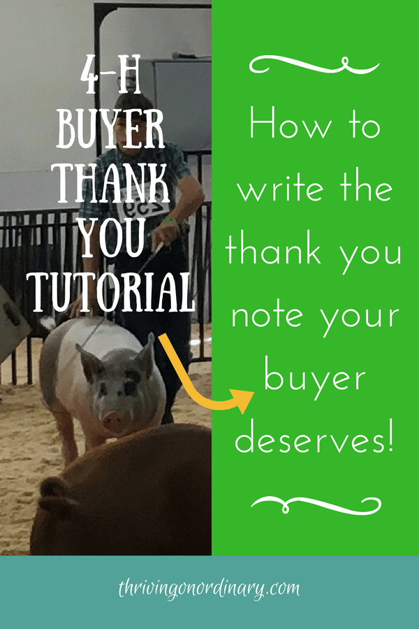 How To Write The Thank You Your Buyer Deserves 4 H Auction 4 H Showing Livestock Thank You Baskets