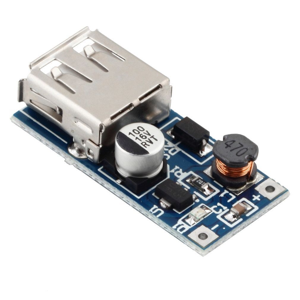 USB Boost Buck 5V Power Module Regulator 3A Power Supply Charger Efficiency