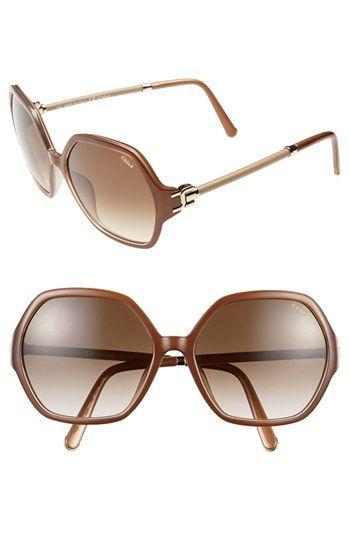 006080d06535 Chloe  Marcie  57mm Oversized Sunglasses