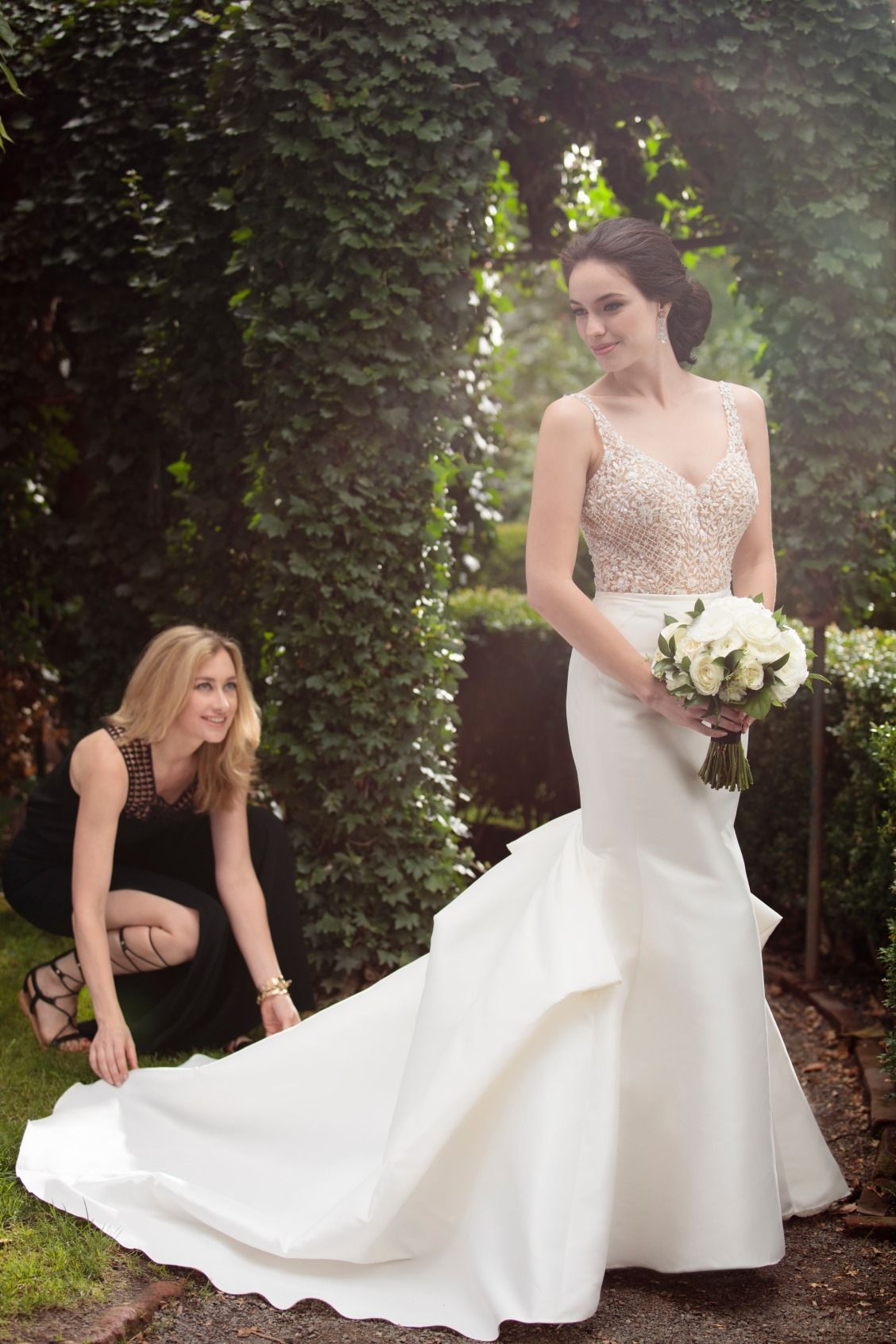 Glam Wedding Dress Separates with Cathedral Train in 2020