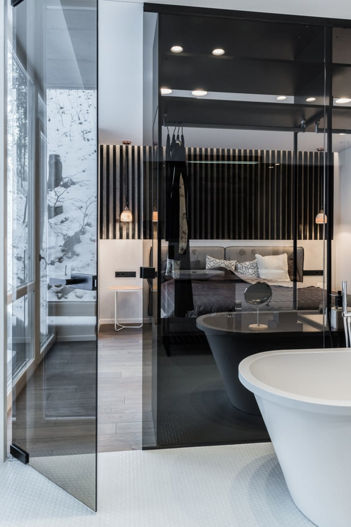 Bathroom Glass Partition glass partition wall between bathroom and bedroom// #bathroom